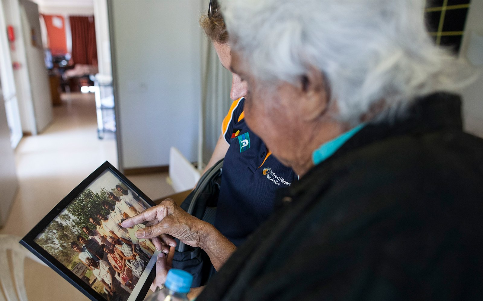Indigenous Health. Tracey and Ipad